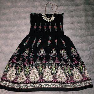 Strapless Black Short Dress